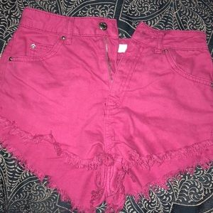 Pink shorts from Topshop